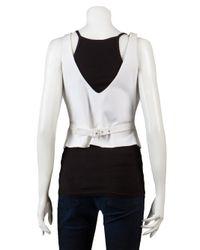 Alexander McQueen - White Back Belt Vest - Lyst