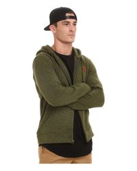Obey | Green Conway Zip Hoodie for Men | Lyst
