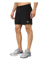 "New Balance | Black Accelerate 5"" Short for Men 