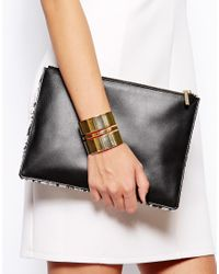Whistles | Metallic Graphic Cut Out Cuff | Lyst