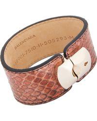 Balenciaga | Pink Python Padlock Bracelet-Colorless | Lyst