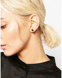 ASOS | Metallic Gold Plated Sterling Silver Angled Shape Single Earring | Lyst