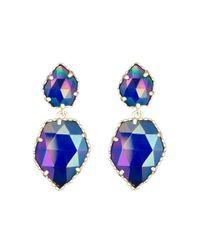 Kendra Scott | Blue Quincy Earrings, Cobalt | Lyst
