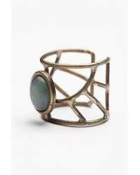 Free People - Green Womens Caged Cuff Ring - Lyst