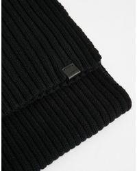 Esprit - Black Chunky Rib Scarf for Men - Lyst