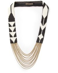Fiona Paxton | Black Edie Beaded Necklace | Lyst