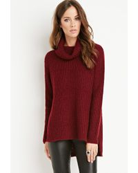 Forever 21 | Purple Ribbed Turtleneck Sweater | Lyst
