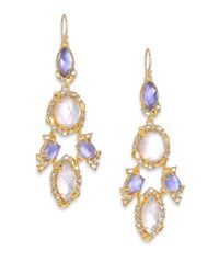 Alexis Bittar | Metallic Elements Moonlight Mother-Of-Pearl & Crystal Doublet Chandelier Earrings | Lyst