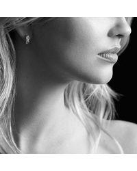 David Yurman | Metallic X Crossover Hoop Earrings With Diamonds In 18k Gold | Lyst