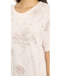 IRO - Natural Gaetane Short Sleeve Sweatshirt - Ecru - Lyst