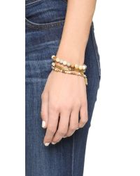 Chan Luu | Beaded Bracelet Set - Natural Mix | Lyst