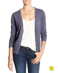 Banana Republic | Gray Factory Forever Vee Cardigan | Lyst