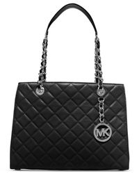 Michael Kors | Black Michael Susannah Medium Tote | Lyst