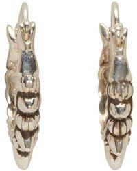 Pamela Love - Metallic Silver Tribal Spike Hoop Earrings - Lyst