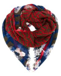 Armani Jeans | Green Mixed Print Scarf | Lyst