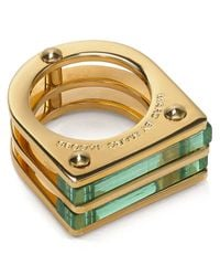 Marc By Marc Jacobs - Green Windows Ring - Lyst