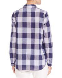 Lafayette 148 New York - Multicolor Big-plaid Button-front Shirt - Lyst