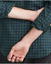 Zara | Green Gingham Check Shirt for Men | Lyst