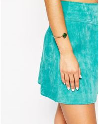 ASOS | Green Mystical Disc Open Cuff Bracelet | Lyst