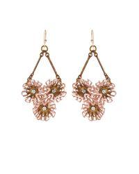 Lulu Frost | Pink Vivien Peony Drop Earrings | Lyst