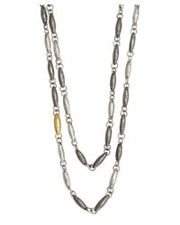 Gurhan | Metallic Silver And Gold 'wheat' Long Necklace | Lyst