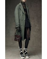 Alexander Wang - Green Triple Snap Oversized Wool Coat - Lyst