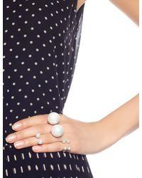 Maria Stern | Metallic Silver Imitation Pearl Ring | Lyst