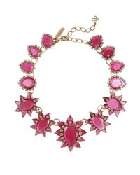 Oscar de la Renta - Pink Starburst Jewel Necklace - Lyst