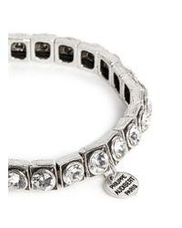 Philippe Audibert - Metallic 'jeanne' Crystal Elastic Bracelet - Lyst