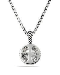 David Yurman | Metallic Cerise Pendant With Pearl & Diamonds | Lyst