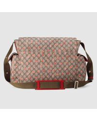 177de10bfd747b Gucci Gg Strawberry Diaper Bag in Pink - Lyst