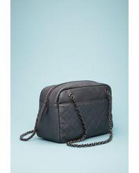 Forever 21 - Black Quilted Faux Leather Shoulder Bag - Lyst