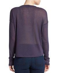 William Rast | Blue Open Knit Sweater | Lyst