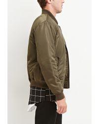 Forever 21 | Green Classic Bomber Jacket for Men | Lyst
