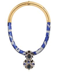 Shourouk | Blue Zulu Necklace | Lyst