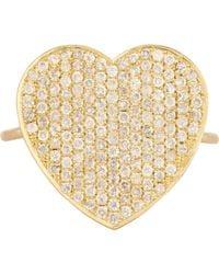 Jennifer Meyer - Metallic Women's Pave Heart Ring - Lyst
