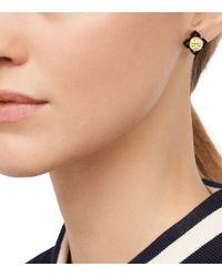 Tory Burch - Metallic Babylon Resin Stud Earring - Lyst