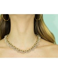St Erasmus | Metallic Short Crochet Scallop Necklace | Lyst