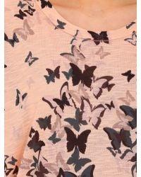 Izabel London | Pink Oversized Butterfly Print Top | Lyst