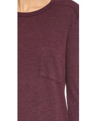 T By Alexander Wang | Purple Classic Pocket Pullover - Plum | Lyst