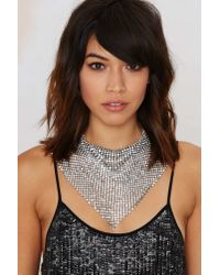 Nasty Gal | Metallic Geneva Chain Handkerchief Necklace | Lyst