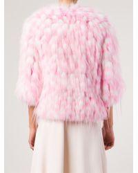 Chloé - Pink Fox Fur Coat - Lyst