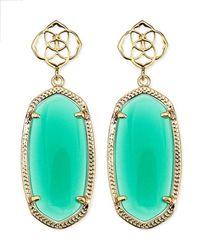 Kendra Scott | Debbie Glass Drop Earrings Green | Lyst