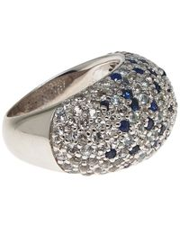 M.c.l | Metallic Silver And Blue Sapphire Pave Ring | Lyst