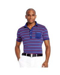 Ralph Lauren | Blue Slim-fit Polo Shirt for Men | Lyst