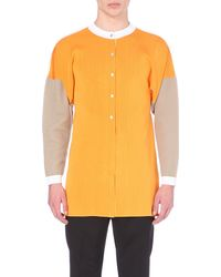 J.W.Anderson | Yellow Block-Coloured Cardigan - For Men for Men | Lyst