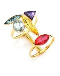 Ca&Lou | Metallic Elsa Crystal Cuff Bracelet | Lyst