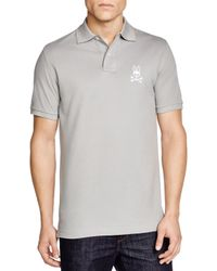 Psycho Bunny | Gray Tall Bunny Polo - Regular Fit for Men | Lyst