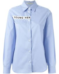AALTO | Blue Embroidered Shirt | Lyst