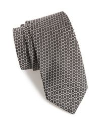 Ted Baker | Black Hexagon Silk Tie for Men | Lyst